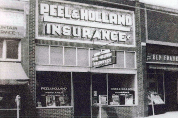 Peel and Holland vintage store front