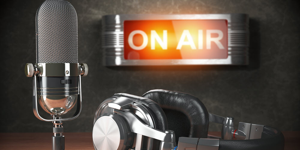 podcast on air microphone image